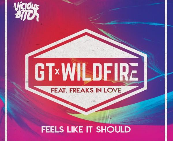 GT & Wildfire feat Freaks In Love - Feels Like It Should - Artwork