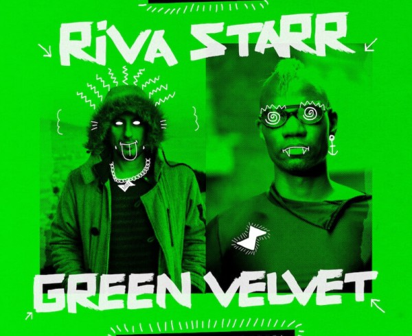 Riva Starr & Green Velvet - Keep Pushin (Harder)' EP - Artwork
